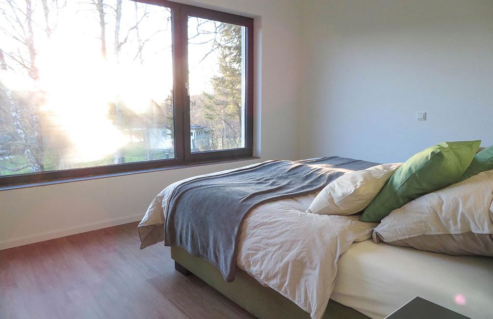 Im Hauptschlafzimmer des traumhaften Ferienhaus Simon lässt es sich besonders gut träumen!